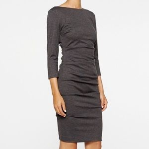 Nicole Miller Gray rusched sheath dress